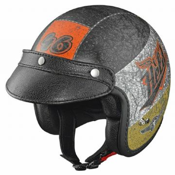 Held Black Bob Design Crushed Black Motorbike Motorcycle Urban Open Face Helmet